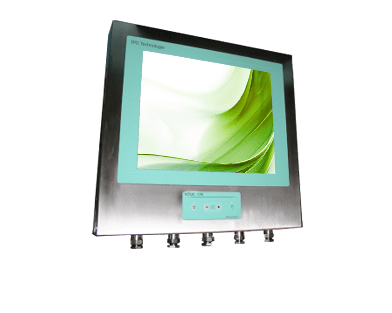 Panel PC Coffret Inox Etanche IP69K, Panel PC & Ecran Inox IP69K,Solution IPO Technologie : VITUS-17KQ