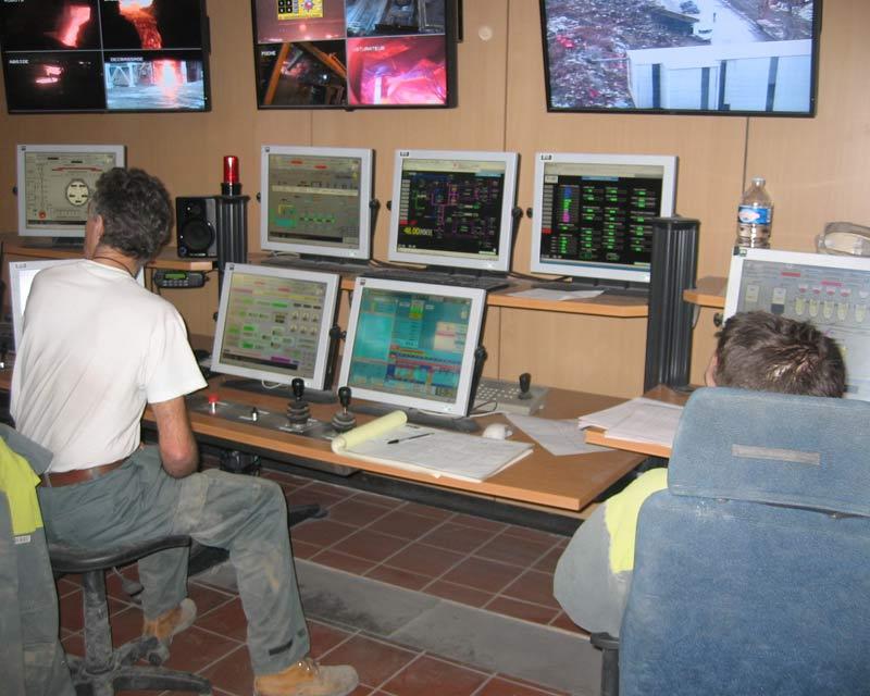 écrans VITUS - salle de contrôle